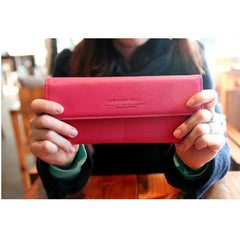 HOT Women Long Purse Wallet Checkbook Wallet Stylish Button Wallet four Colors - Oh Yours Fashion - 4