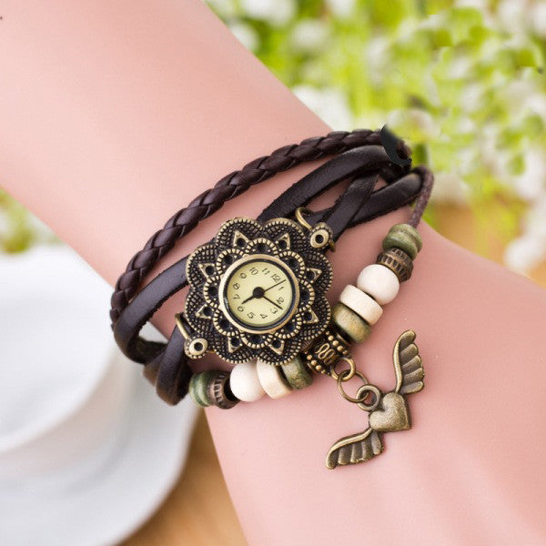 Heart With Wings Multilayer Watch - Oh Yours Fashion - 8