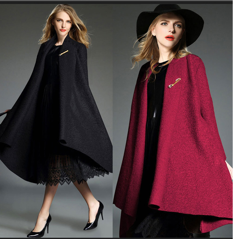 Drape Loose Asymmetric Solid Long Coat - Oh Yours Fashion - 4