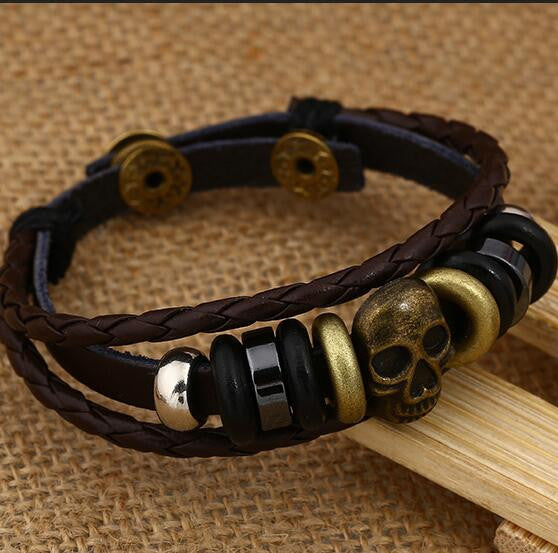 Fashion Beaded Woven Leather Bracelet - Oh Yours Fashion - 3