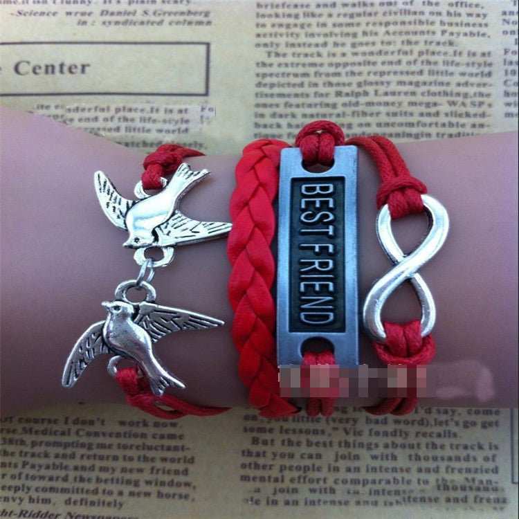 BESTFRIEND Dove Fashion Woven Bracelet - Oh Yours Fashion - 1