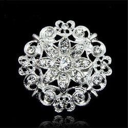 Luxury Crystal Flower Brooch - Oh Yours Fashion - 1
