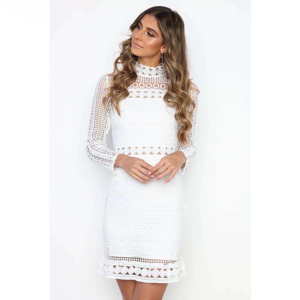 White Long Sleeve Party Dresses