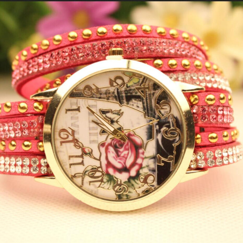 Flower Car Pattern Lady's Watch - Oh Yours Fashion - 7