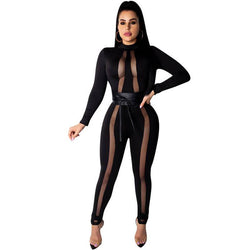Black Fleabag Bandage See Through Jumpsuit
