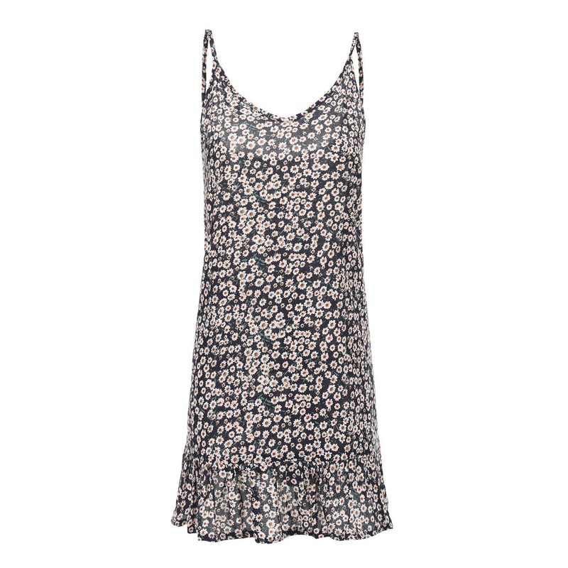 Sexy Bear Shoulder Print Short Dress