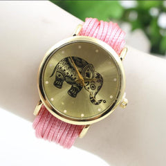 Elephant Print Multilayer Leather Watch - Oh Yours Fashion - 9