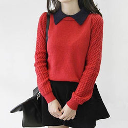 False Two Pieces Pullover Sweater