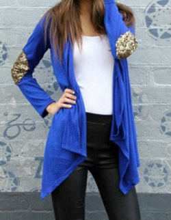 Asymmetric Cardigan Splicing Long Blouse - Oh Yours Fashion - 2