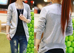 Irregular Candy Color Cardigan Knitwear - Oh Yours Fashion - 6