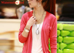 Irregular Candy Color Cardigan Knitwear - Oh Yours Fashion - 12