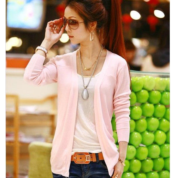 Irregular Candy Color Cardigan Knitwear - Oh Yours Fashion - 8