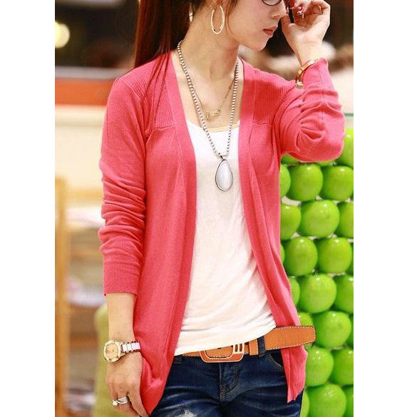 Irregular Candy Color Cardigan Knitwear - Oh Yours Fashion - 10