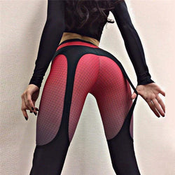 High Waist Patchwork Slim Elastic Skinny Long Yoga Leggings Pants