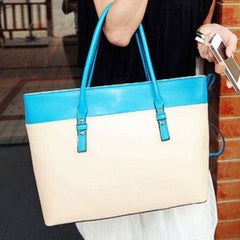 Women's PU Leather Satchel Luggage Tote Bag Handbag - Oh Yours Fashion - 2