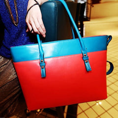 Women's PU Leather Satchel Luggage Tote Bag Handbag - Oh Yours Fashion - 4