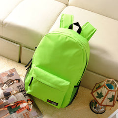 Pure Color Korean Style Flexo Backpack - Oh Yours Fashion - 10
