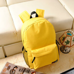 Pure Color Korean Style Flexo Backpack - Oh Yours Fashion - 1