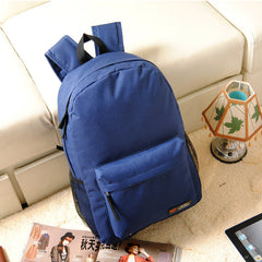 Pure Color Korean Style Flexo Backpack - Oh Yours Fashion - 4