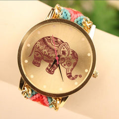 Wool Knitting Strap Elephant Print Watch - Oh Yours Fashion - 6
