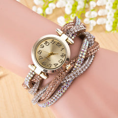 Beautiful Crystal Woven Bracelet Watch - Oh Yours Fashion - 4