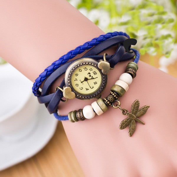 Dragonfly Decorate Multilayer Watch - Oh Yours Fashion - 4