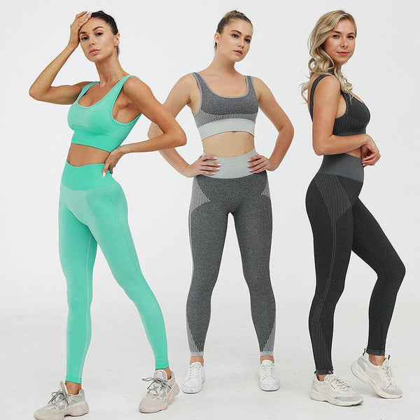 Plain Tank Top High Waist Bodycon Skinny Stretch Pant Sets