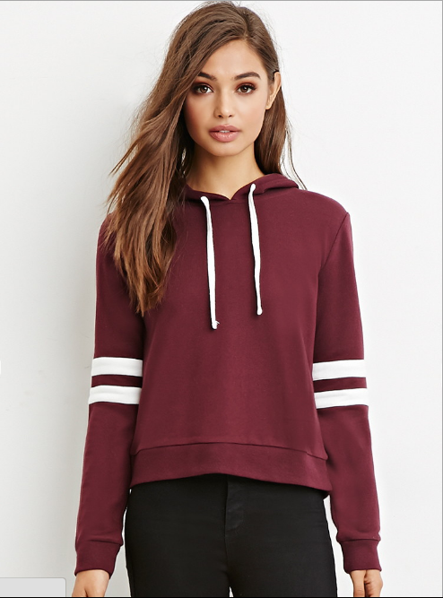 Scoop Hooded Pullover Solid Color Loose Hoodie - Oh Yours Fashion - 2