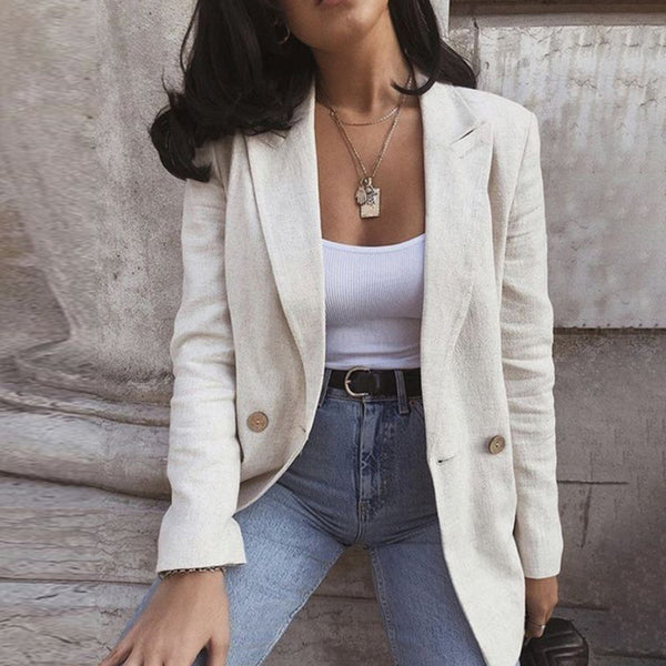 Double Breasted Midi Blazer