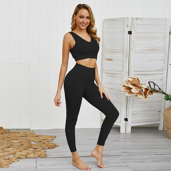 Sexy Tank Top High Waist Bodycon Skinny V Neck Pant Sets