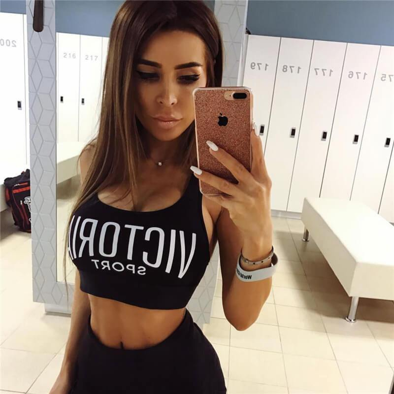 Victory Letter Straps Short Crop Top
