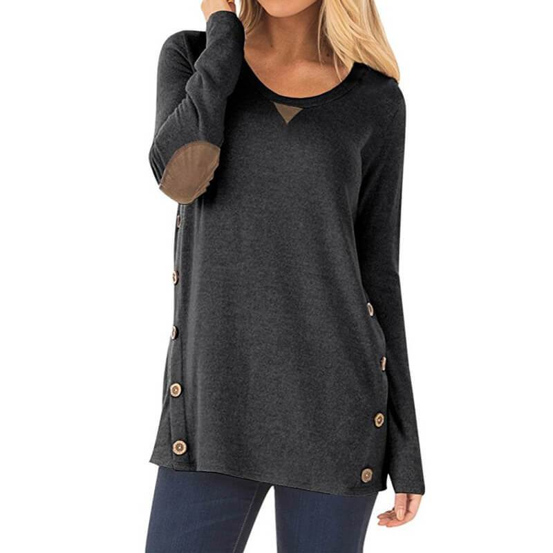 Button Loose Long Sleeves Blouse