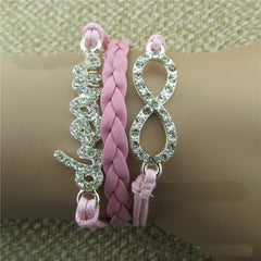 Crystal Dream Leather Cord Bracelet - Oh Yours Fashion - 1