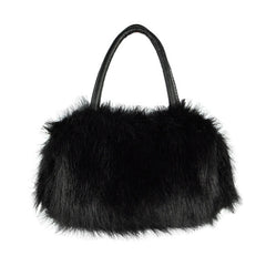 Winter Mini Lovely Fur Leather Handbag Shoulder Bag - Oh Yours Fashion - 2