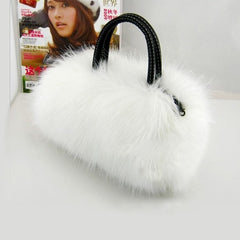 Winter Mini Lovely Fur Leather Handbag Shoulder Bag - Oh Yours Fashion - 3
