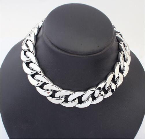 Thick Chain Joker Chain Necklace - Oh Yours Fashion - 1