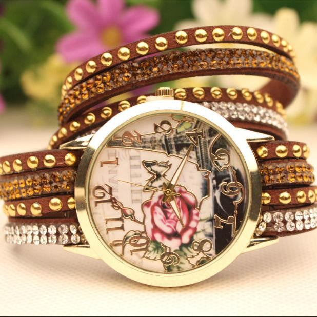 Flower Car Pattern Lady's Watch - Oh Yours Fashion - 8