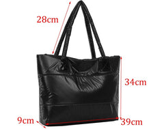 Korea Space Bale Winter Cotton Totes Lady Bag Shoulder Bag Handbag Bag - Oh Yours Fashion - 5