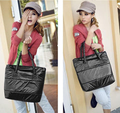 Korea Space Bale Winter Cotton Totes Lady Bag Shoulder Bag Handbag Bag - Oh Yours Fashion - 8