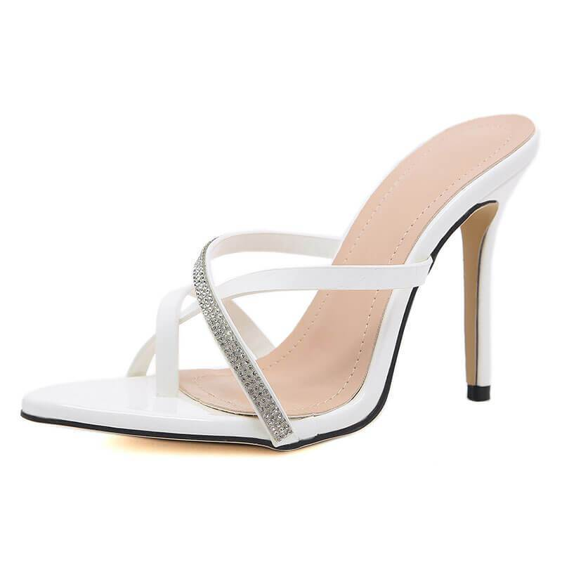 Summer Rhinestone Pointed Toe Bunions Sandals
