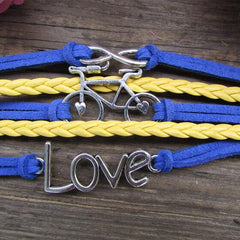 LOVE Bicicyle Fashion Multielement Colored Bracelet - Oh Yours Fashion - 2