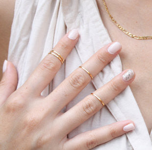 Exquisite Polished Thin Rings Set - Oh Yours Fashion - 1