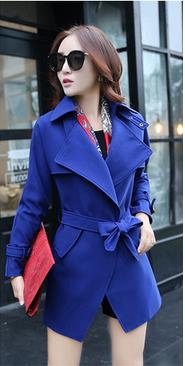 Belt High Neck Long Sleeves Irregular Slim Mid-length Coat - Meet Yours Fashion - 6