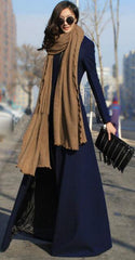Beautiful High Neck Slim Super Long Coat - Oh Yours Fashion - 2