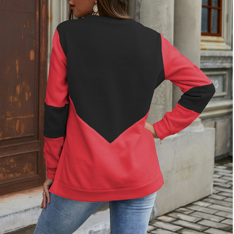 Crewneck Colorblock High Low Sweatshirt