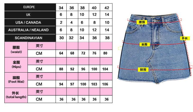 Zipper Packets High Waist Pure Color Slim Short Denim Skirt