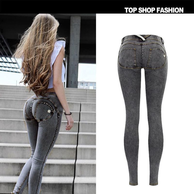 Low Waist Back Packets Pure Color Slim Zipper Skinny Pants