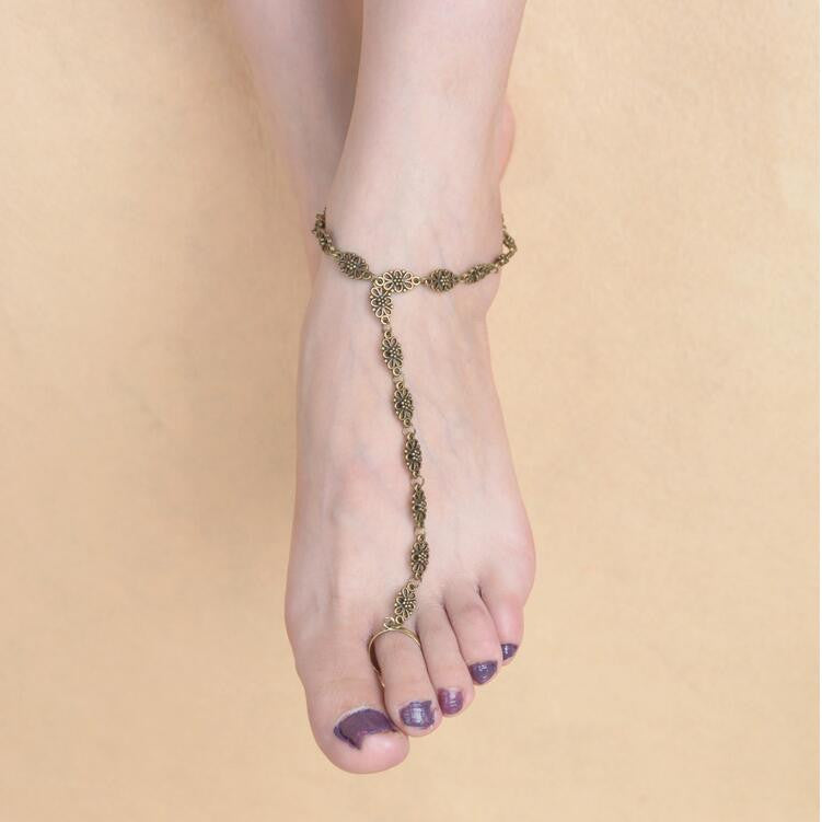 Simple Hollow Out Carving Anklet - Oh Yours Fashion - 1