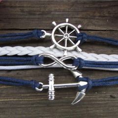 Anchor Eight Multilayer Colored Bracelet - Oh Yours Fashion - 3