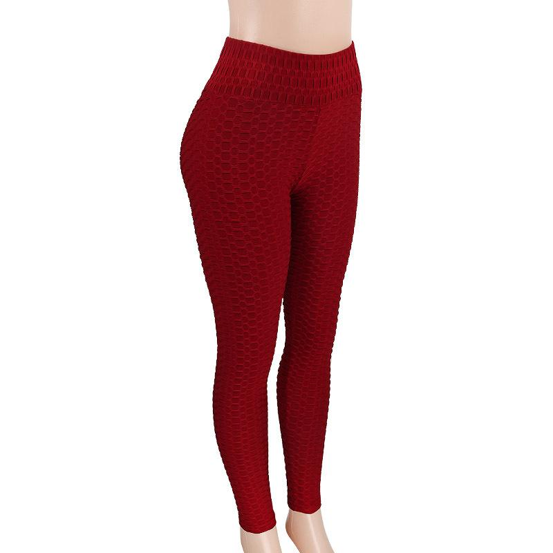 Slim Packets High Waist Candy Color Lift Hip Elastic Long Yoga Pants